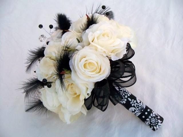 czarna wiązanka ślubna