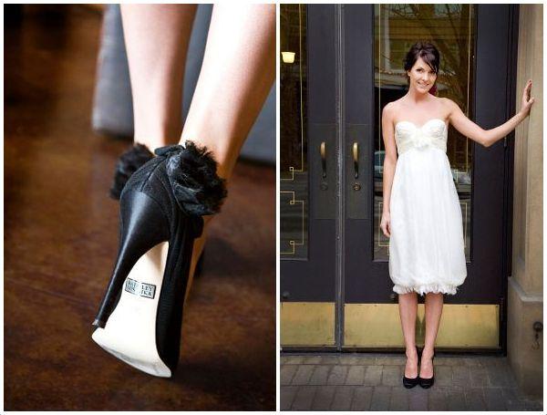 czarne buty ślubne