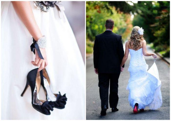 czarne buty weselne
