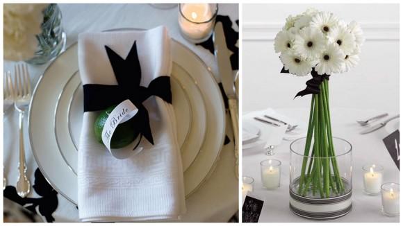 czarno biały stół