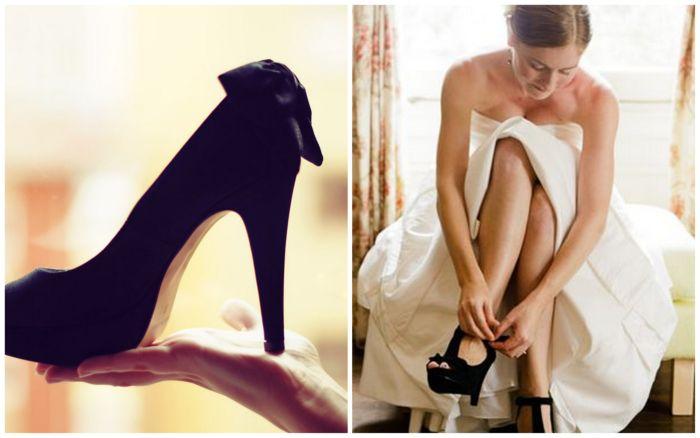 weselne czarne buty
