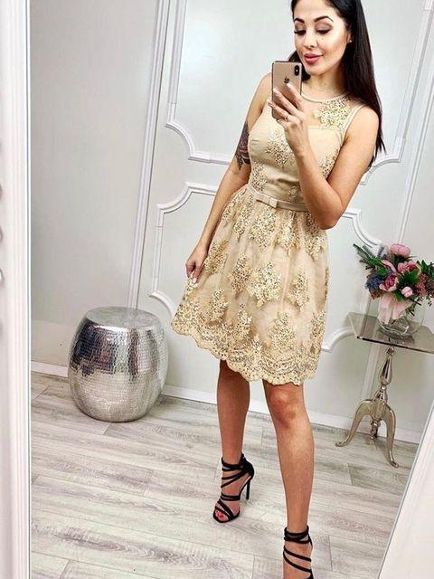 Krótka koronkowa sukienka e-sukienki