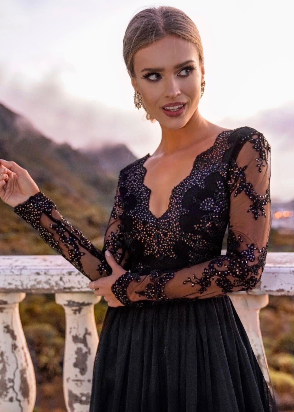 Czarna sukienka na wesele 2020 Inubia Adel