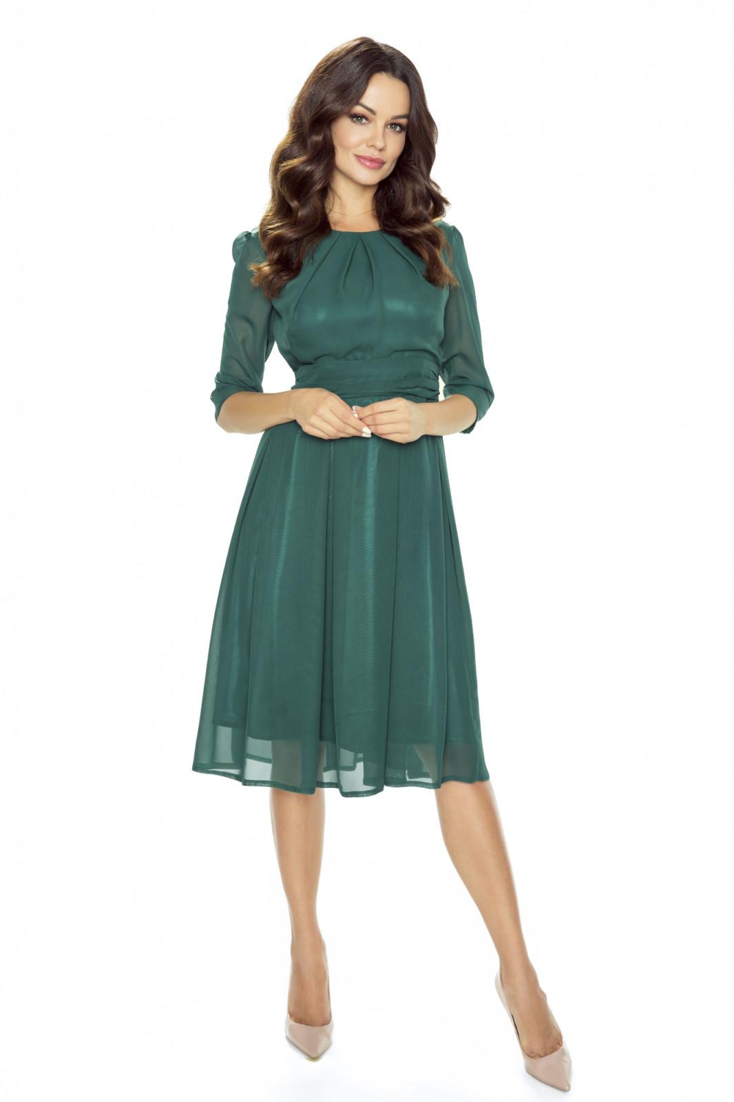 Koktajlowa sukienka z szyfonu-kartes-moda