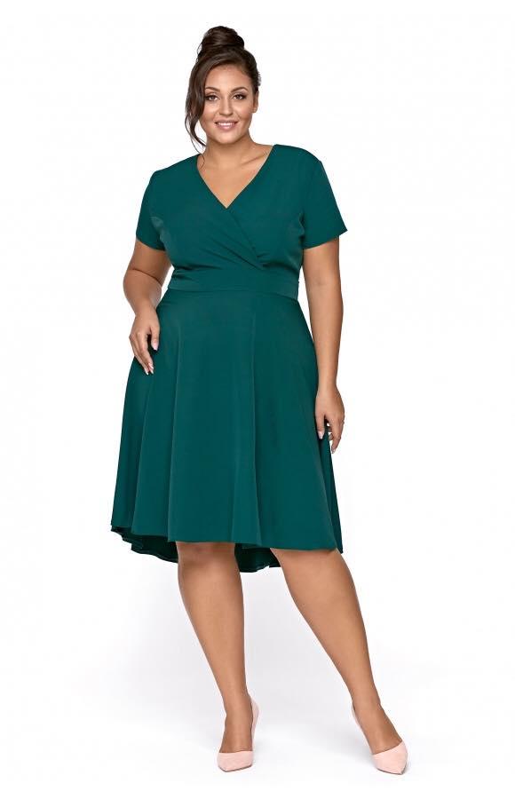 Lena - Asymetryczna wizytowa sukienka-kartes-moda