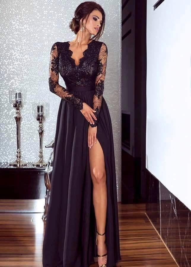 Luna czarna sukienka Inbia