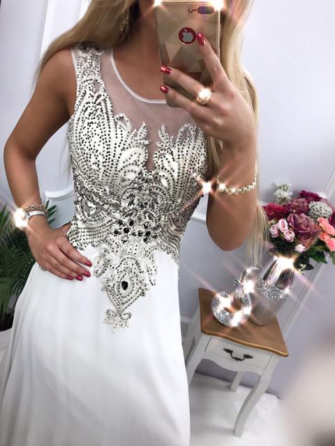 Nikita długa sukienka z kryształkami e-sukienki