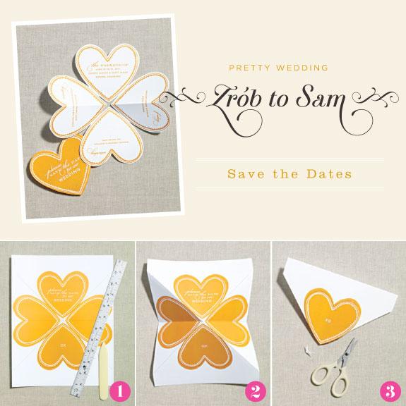 karty w kształcie serca, zrób to sam