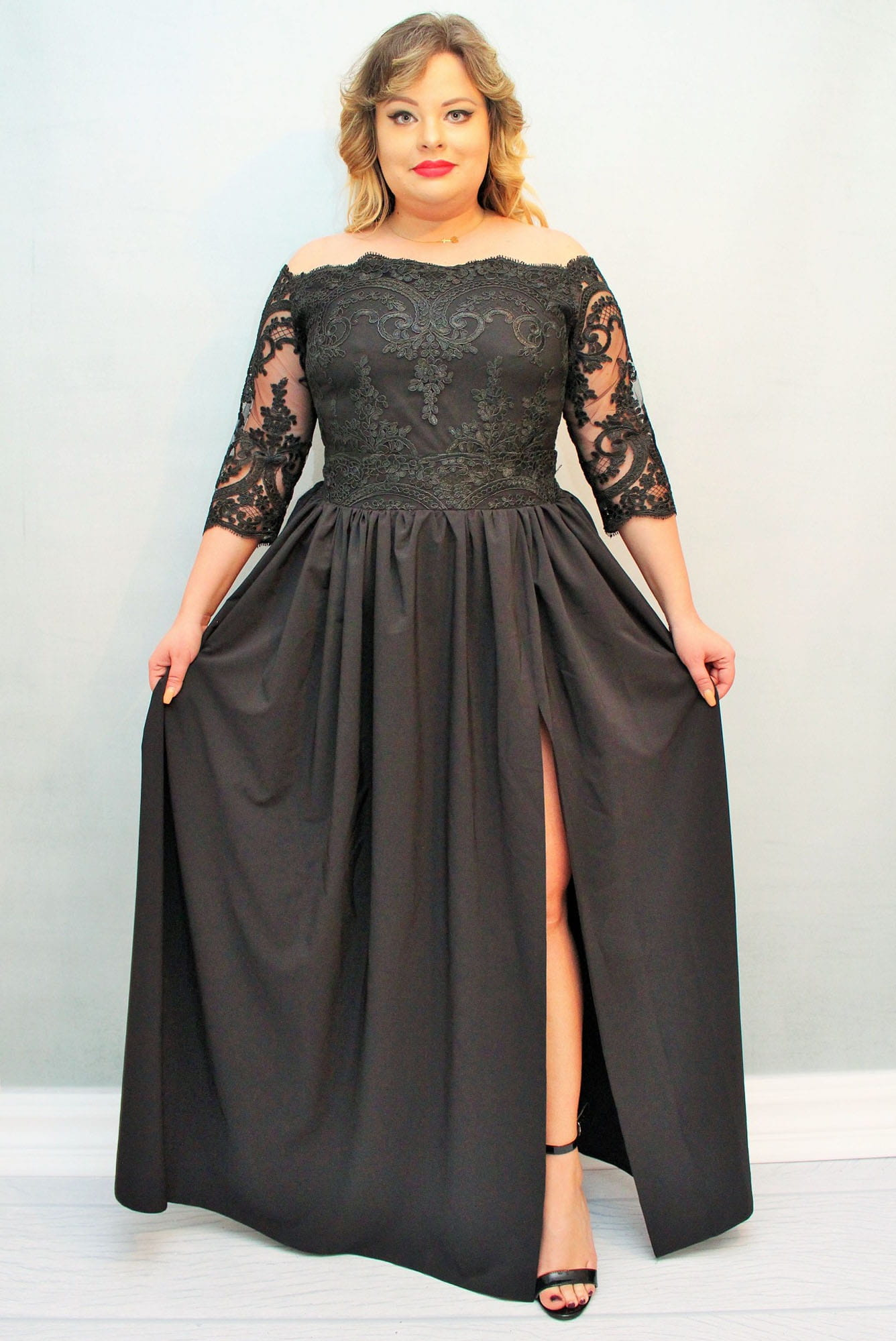 Sukienka MARGO long rozkloszowana ekskluzywna lamoda