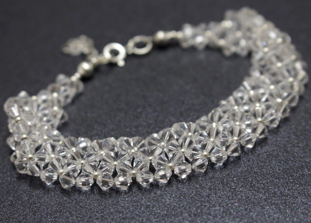 Swarovski bransoletka srebro biżuteria ślubna chileart 1