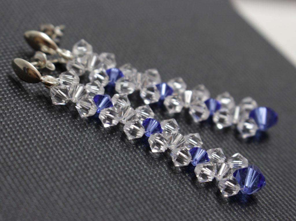 Swarovski i srebro biżuteria ślubna kolczyki ślubne 15