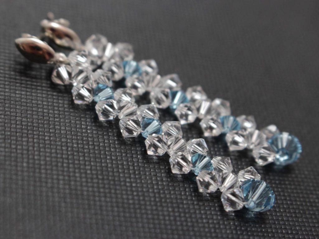 Swarovski i srebro biżuteria ślubna kolczyki ślubne sztyfty 11