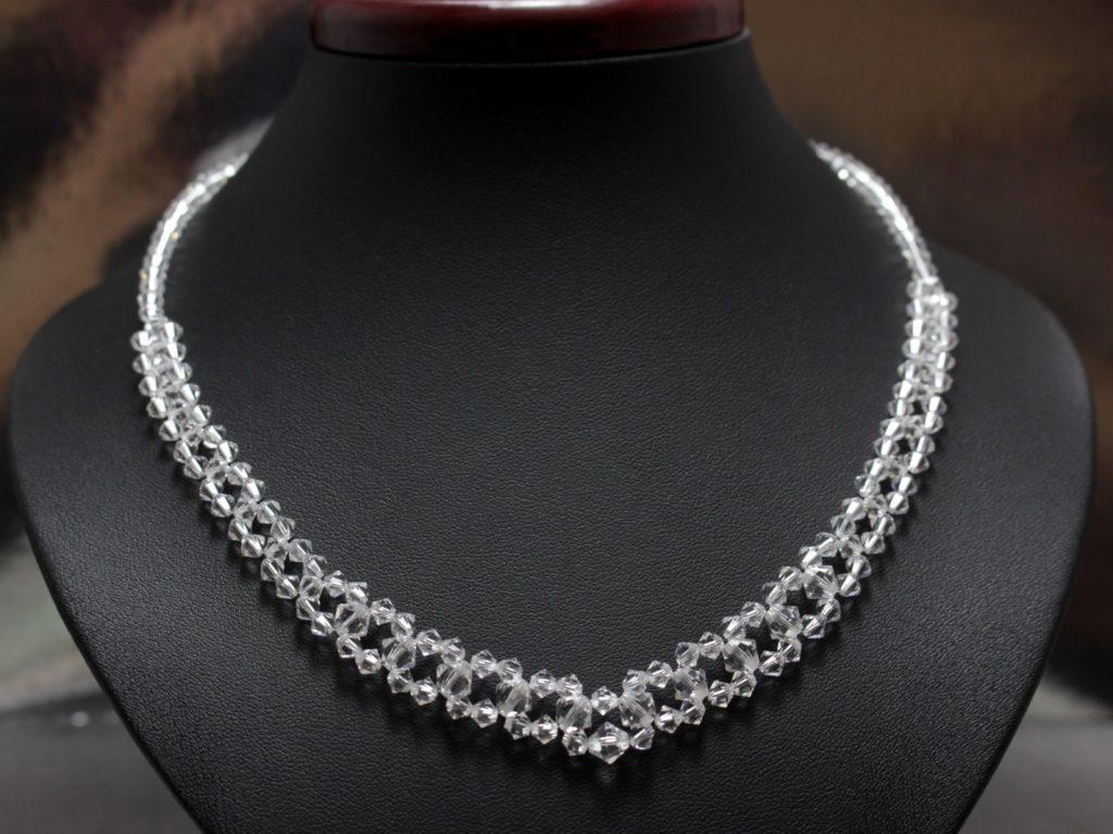 Swarovski i srebro biżuteria ślubna naszyjnik ślubny 12