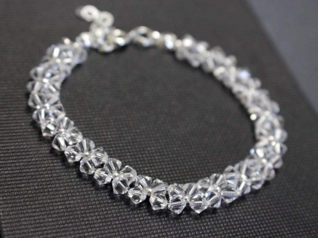 Swarovski i srebro bransoletka biżuteria ślubna 8