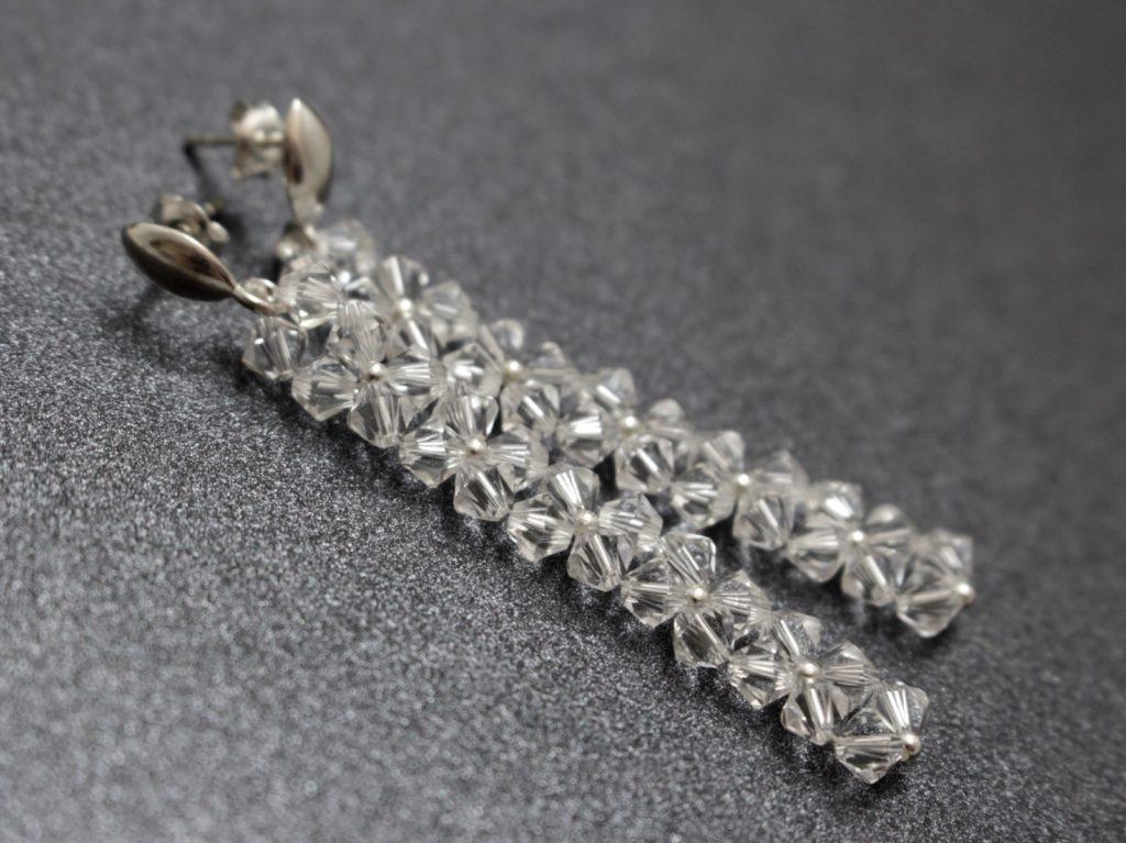 Swarovski i srebro kolczyki biżuteria ślubna chileart 3