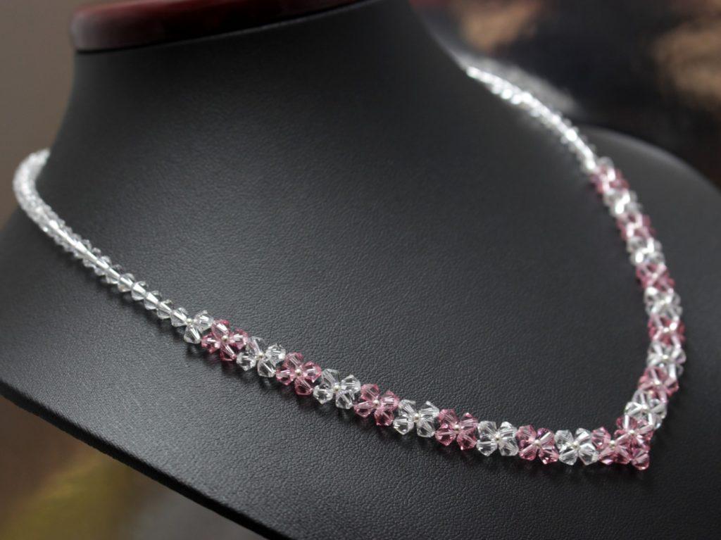 Swarovski light rosa naszyjnik ślubny biżuteria ślubna 19