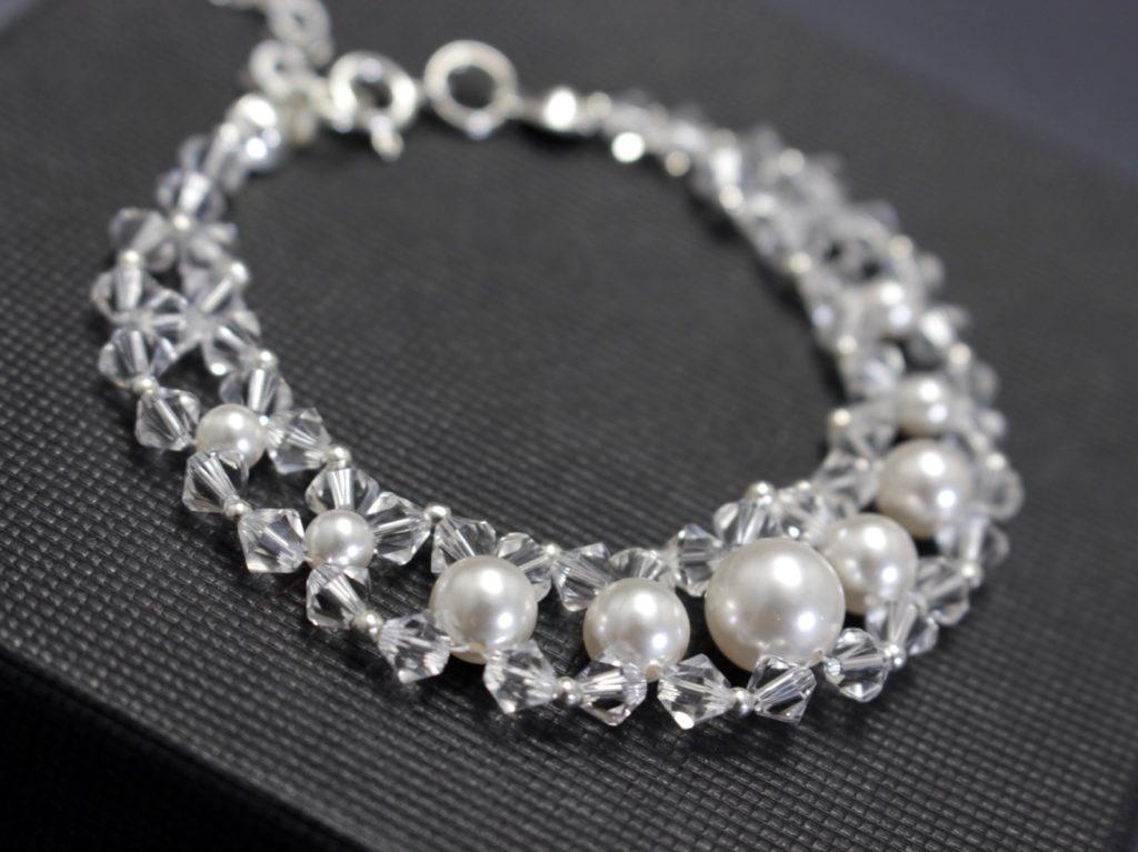 swarovski perły bransoletka ślubna biżuteria ślubna chileart 5