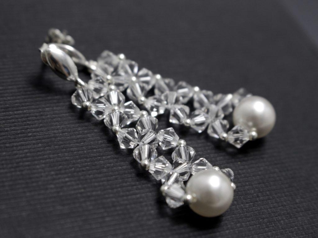 swarovski perły kolczyki ślubne biżuteria ślubna chileart 6
