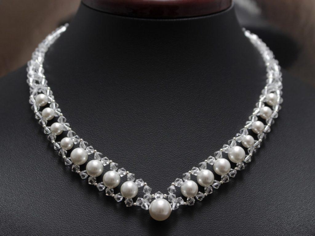 swarovski perły naszyjnik ślubny biżuteria ślubna chileart 7