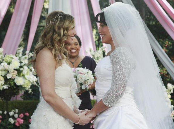 Suknie ślubne Jessica Capshaw, Sara Ramirez w serialu Chirirdzy