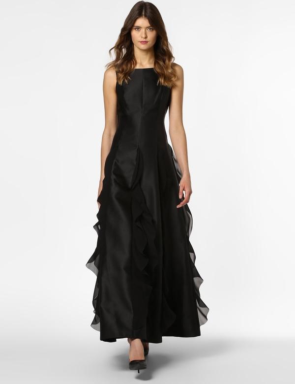 Czarna sukienka Adrianna Papell Vangraaf bez rękawów z okragłym dekoltem Allani