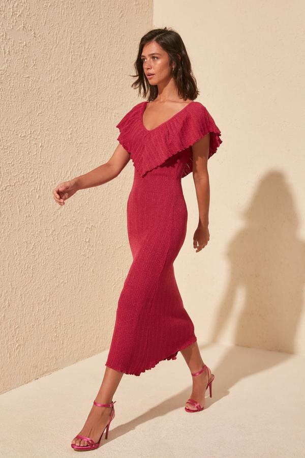 czerwona-sukienka-factcool-z-krotkim-rekawem-z-dekoltem-w-ksztalcie-litery-v-allani