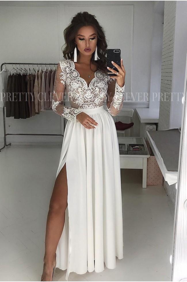 Długa koronkowa sukienka Ophelia Prettyclever