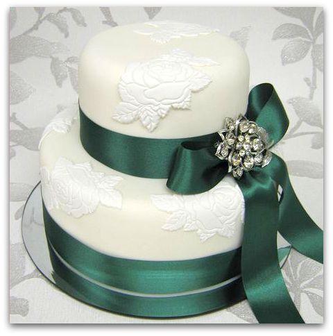 szmaragdowy tort weselny