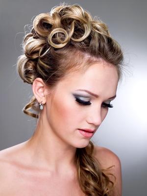 Fashion wedding hairstyle