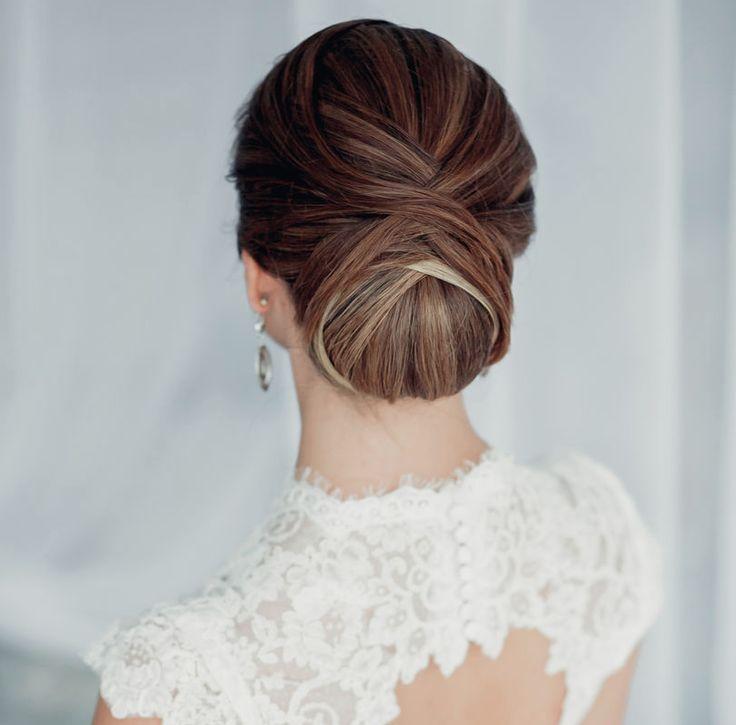 fryzura na wesele niski kok