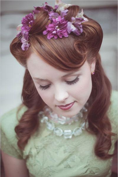 fryzura ślubna w stylu retro