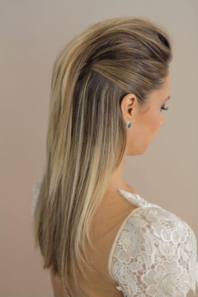 włosy proste