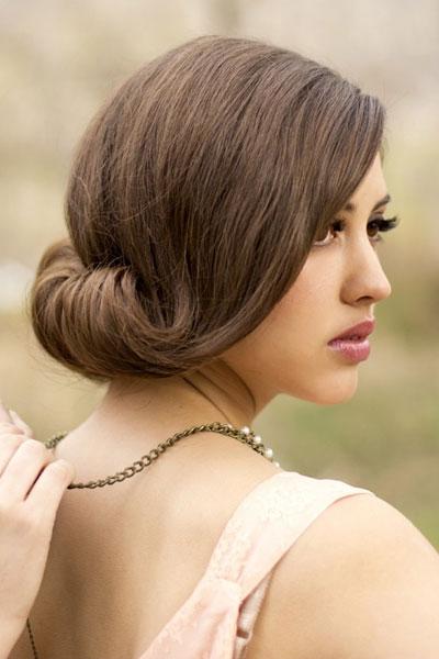 fryzura weselna w stylu retro