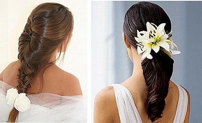 Kwiaty We Włosach Fryzury Na Wesele ślub W Białej