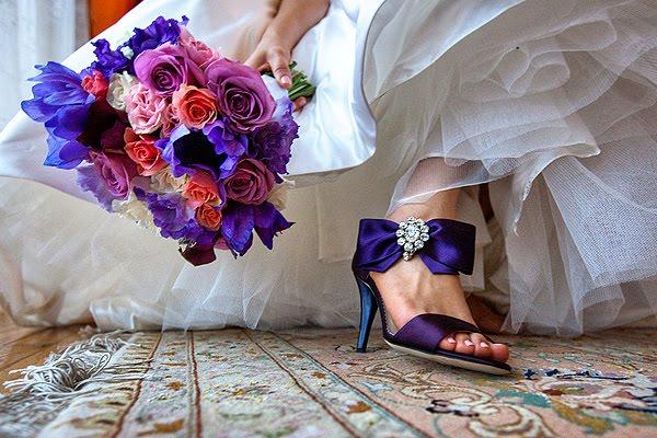 granatowe buty ślubne