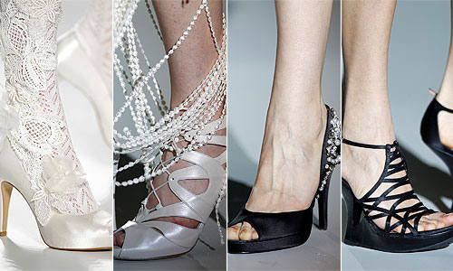 czarne i białe buty ślubne