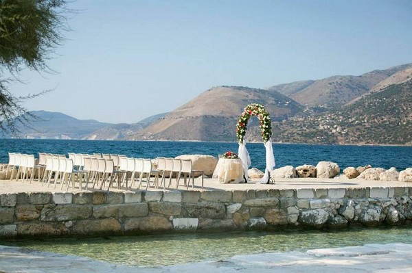 Ślub z widokiem na morze kefalonia