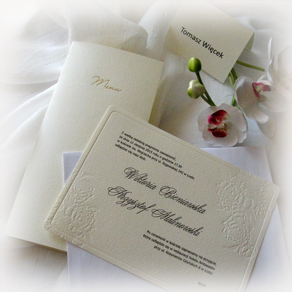 Zaproszenia ślubne ślub W Białej