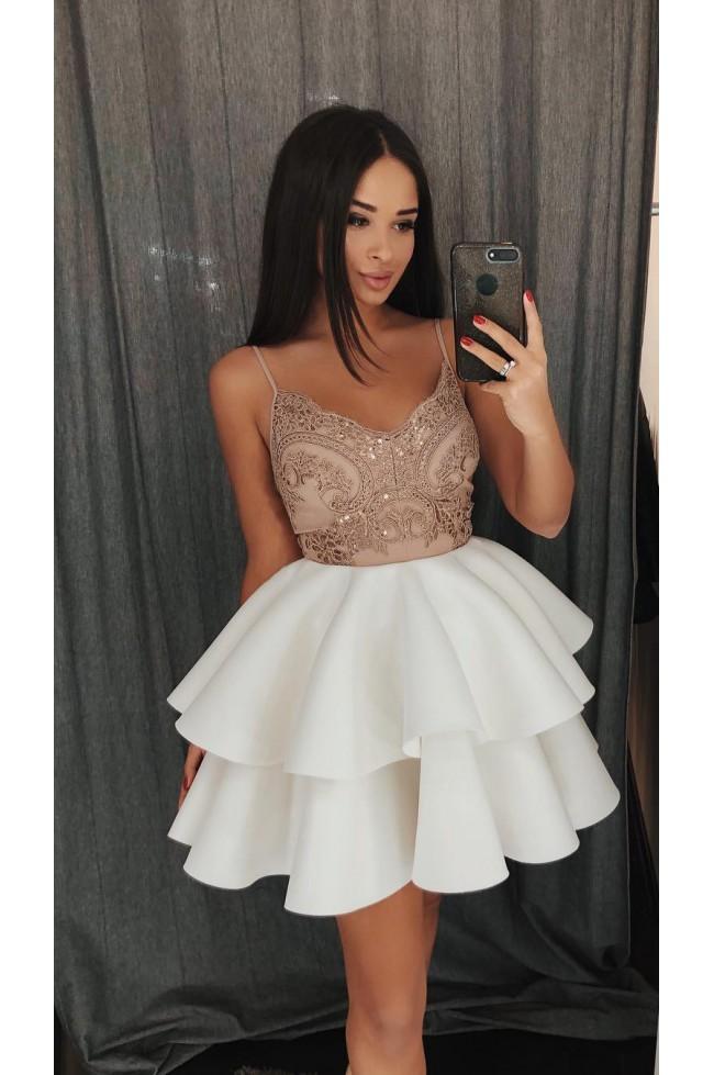 Koronkowa sukienka na wesele z piankową spódnicą Janet Prettyclever