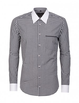 koszula meska w krate armando, Giacomo Conti