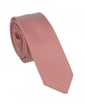 krawat z czerwonym wzorem giacomo conti