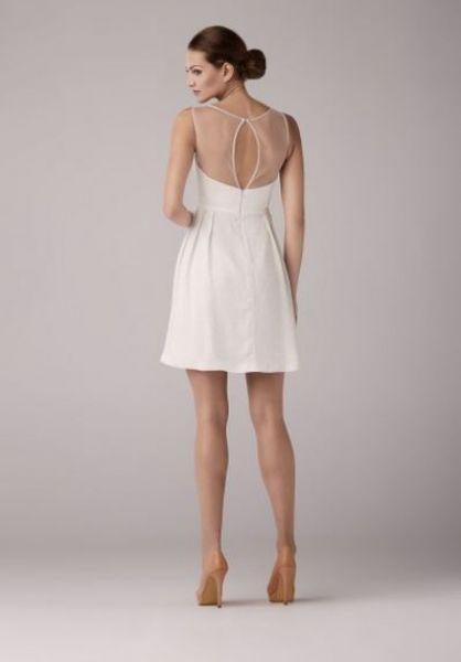Krótka sukienka ślubna z kolekcji Anny Kary 2014. Model Aloe