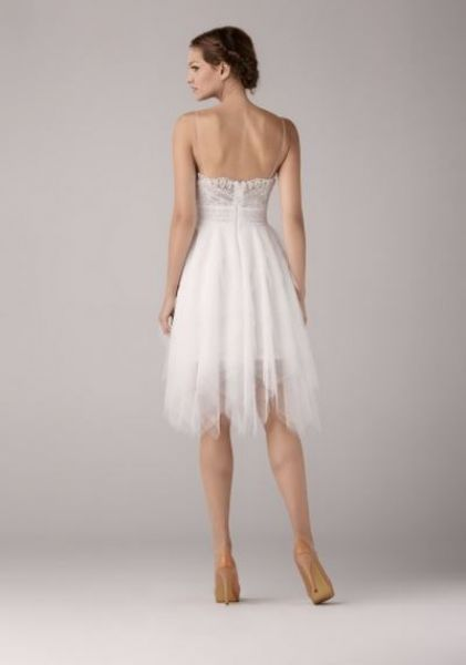 Krótka sukienka ślubna z kolekcji Anny Kary 2014. Model Willow Short