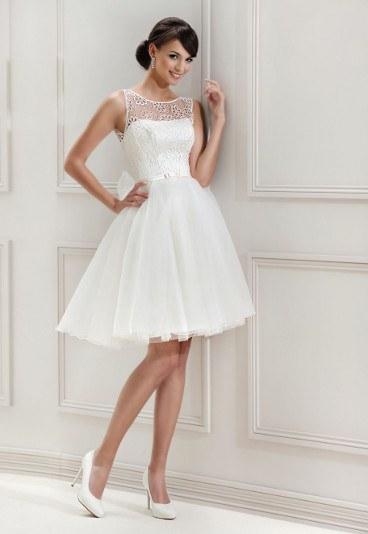 Krótkie suknie ślubne 2015 Agnes
