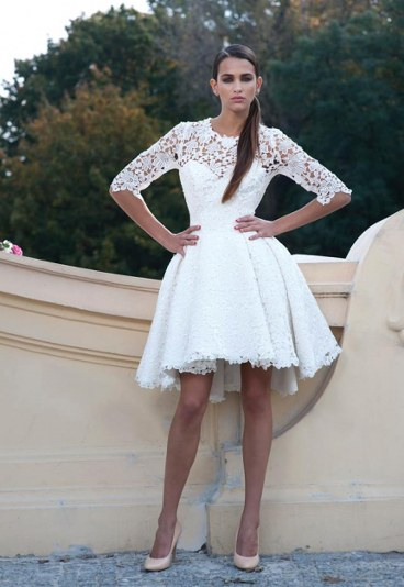Krótkie suknie ślubne 2015 Viola Piekut