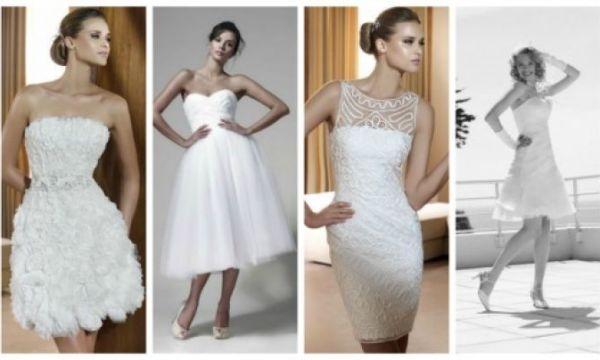 Krótkie suknie ślubne z kolekcji Pronovias, Maciej Zień i Karina