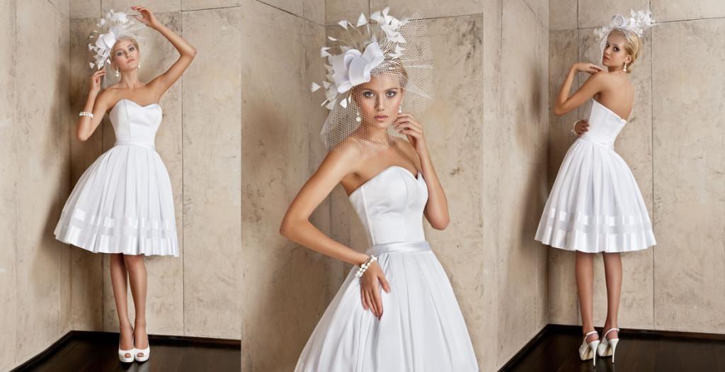 c4389d7874 Super Krótka suknia ślubna - Ślub w Białej ES-85