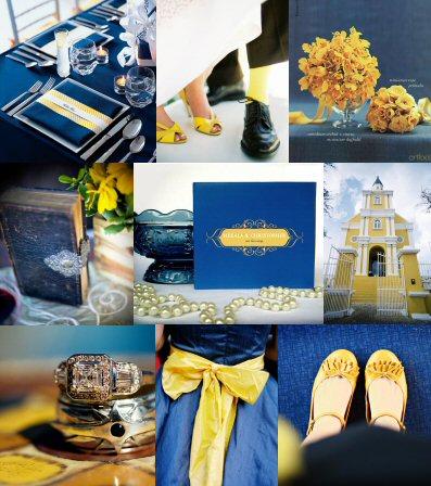 Niebiesko-żółty ślub