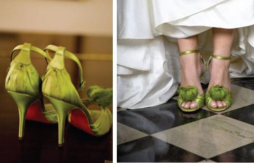 oliwkowe buty ślubne