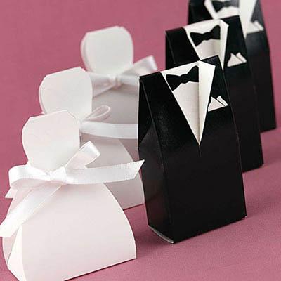 Podziękowanie dla gości w formie ozdobnego pudełeczka